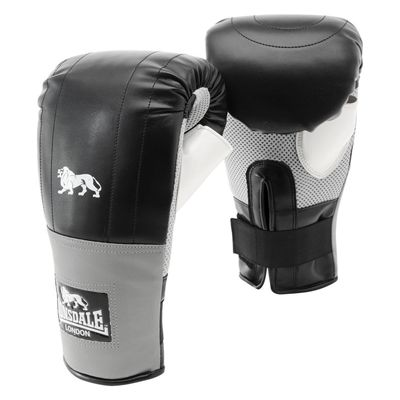 Lonsdale Pro Training Bag Mitts - Black/Grey