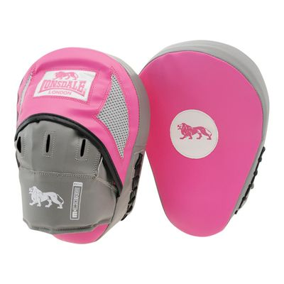 Lonsdale Pro Training Hook and Jab Pads - Pink/Grey