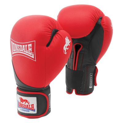 Lonsdale Rookie Sparring Gloves - Red/Bkack