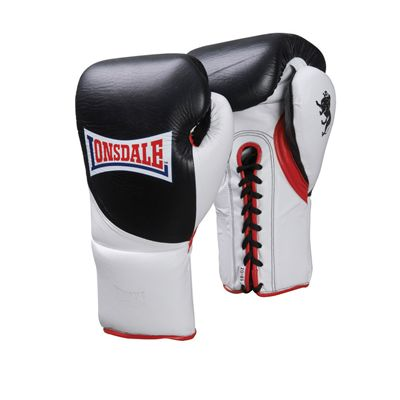 Lonsdale Ultimate Pro Fight Contest Glove  Black White Red