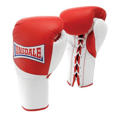 Lonsdale Mex Pro Fight Gloves - Red/White