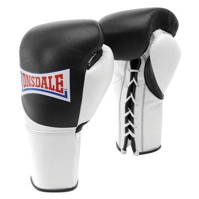 Lonsdale Mex Pro Fight Gloves - Black/White