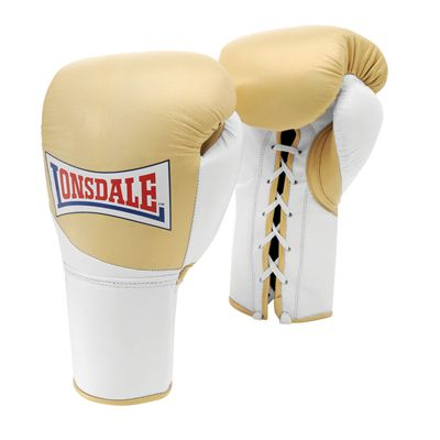 Lonsdale Mex Pro Fight Gloves - Gold/White