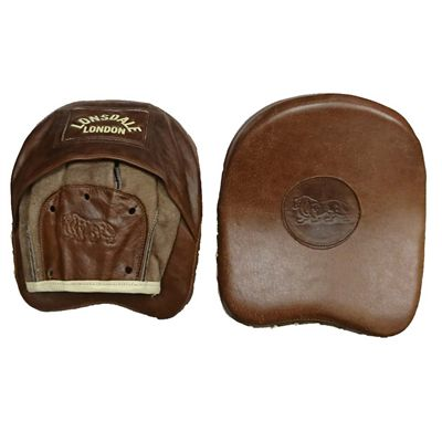 Lonsdale Vintage Leather Curved Cuban Pads