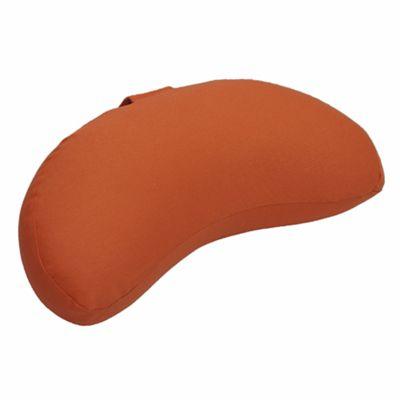 Lotus Design 12cm Crescent Meditation Cushion - Dark Orange