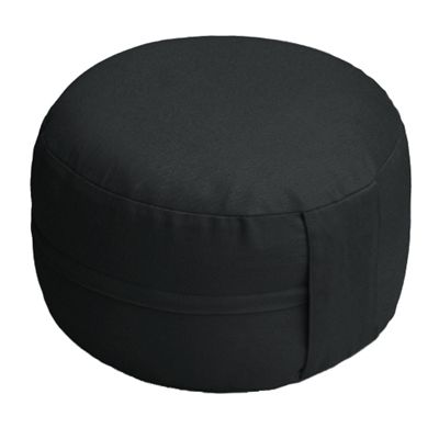Lotus Design Classic Meditation Cushion with Zipper - 14cm - Black