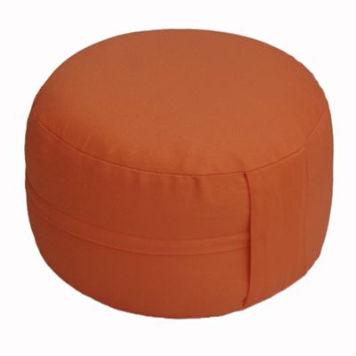 Lotus Design Classic Meditation Cushion with Zipper - 14cm - Dark Orange