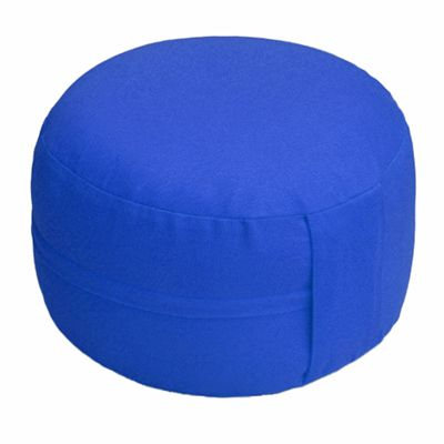 Lotus Design Classic Meditation Cushion with Zipper - 14cm - Navy