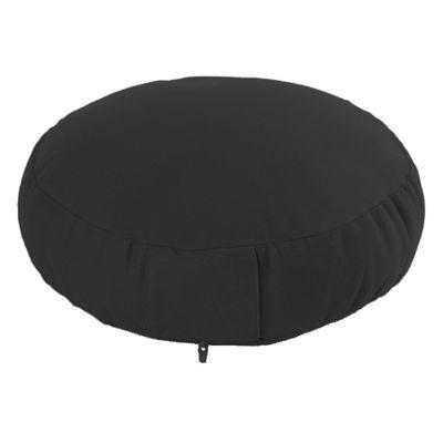 Lotus Design Classic Meditation Cushion with Zipper - 7cm - Black