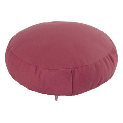 Lotus Design Classic Meditation Cushion with Zipper - 7cm - Burgundy