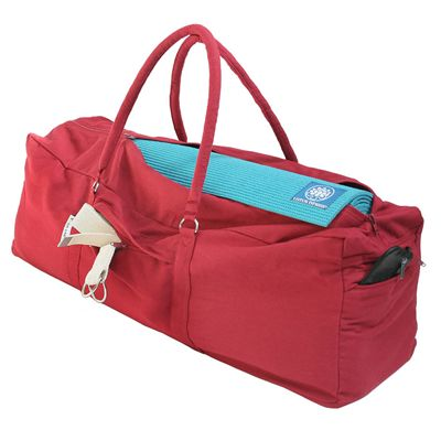 Lotus Design Large Yoga Mat Bag - Red