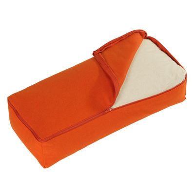 Lotus Design Yoga Back Bolster - Dark Orange