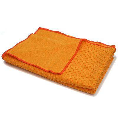 Lotus Design Yoga Mat Towel - Dark Orange