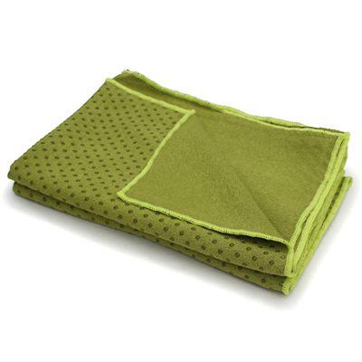 Lotus Design Yoga Mat Towel - Olive Green