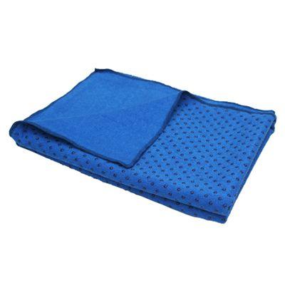 Lotus Design Yoga Mat Towel - Blue