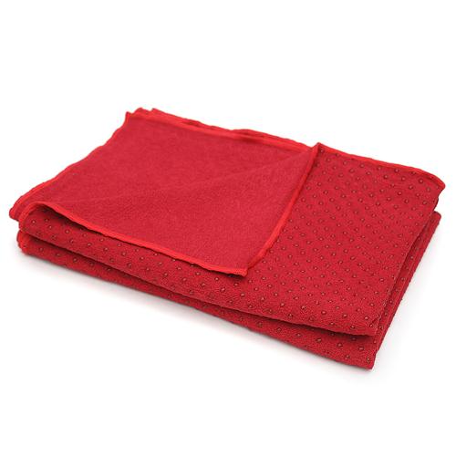Lotus Design Yoga Mat Towel  Burgundy