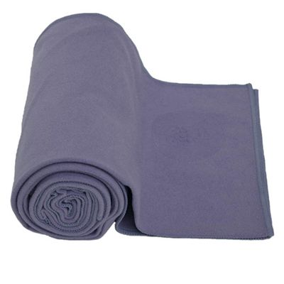 Lotus Design Yoga Towel - Purple Image