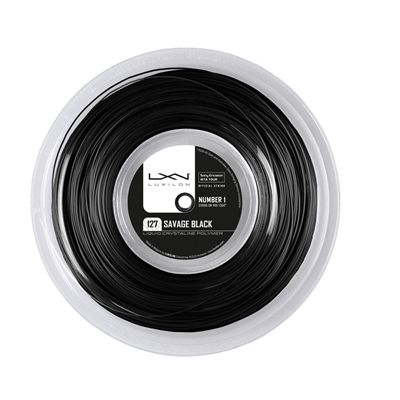 Luxilon Savage 127 Tennis String 200m Reel Black