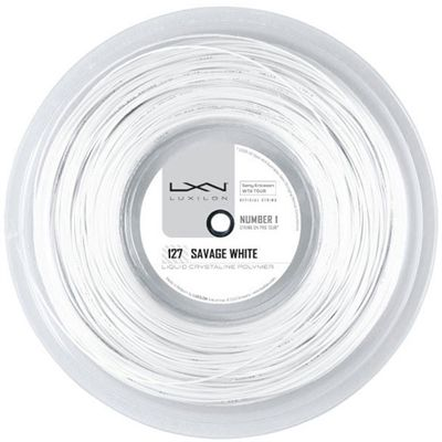 Luxilon Savage 127 Tennis String 200m Reel White