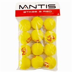 Mantis Stage 3 Red Foam Tennis Balls - 12 Pack