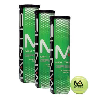Mantis Stage 1 Green Tennis Balls - 1 dozen