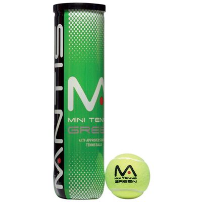 Mantis Stage 1 Green Tennis Balls - Tube of 4