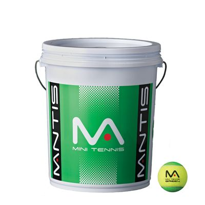 Mantis Stage 1 Green Tennis Balls Bucket - 6 dozen