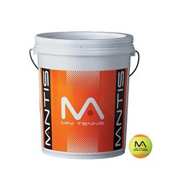 Mantis Stage 2 Orange Tennis Balls Bucket (6 dozen)