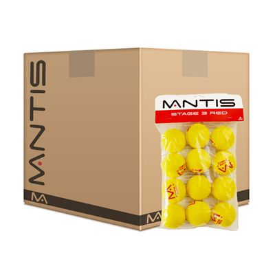 Mantis Stage 3 Red Foam Tennis Balls 5 Dozen