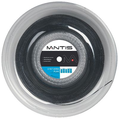 Mantis Synthetic Plus Tennis String 200m Reel-16G-Black