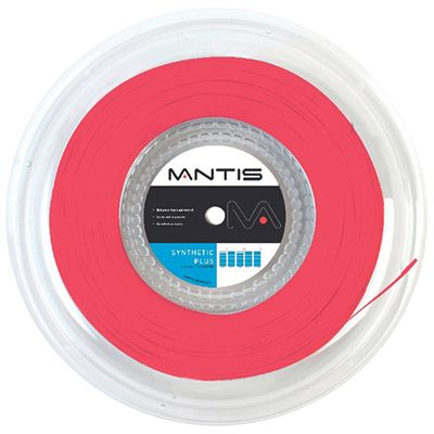 Mantis Synthetic Plus Tennis String 200m Reel-16G-Red