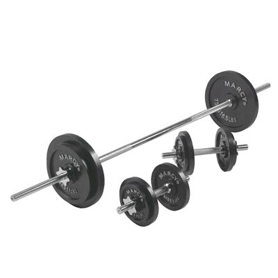 Marcy 50kg Cast Iron Barbell and Dumbbell Set