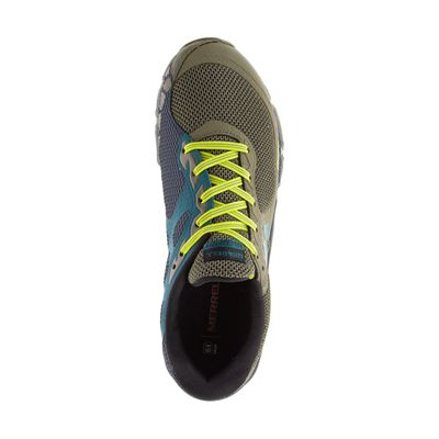 Merrell Agility Charge Flex Mens Running Shoes - Green - Above