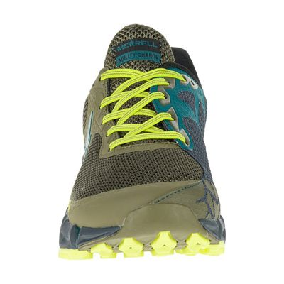 Merrell Agility Charge Flex Mens Running Shoes - Green - Front