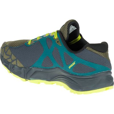 Merrell Agility Charge Flex Mens Running Shoes - Green - Left Side