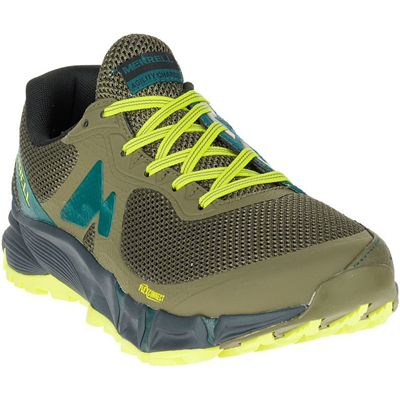 Merrell Agility Peak Flex Mens Running Shoes - Yellow - Angle