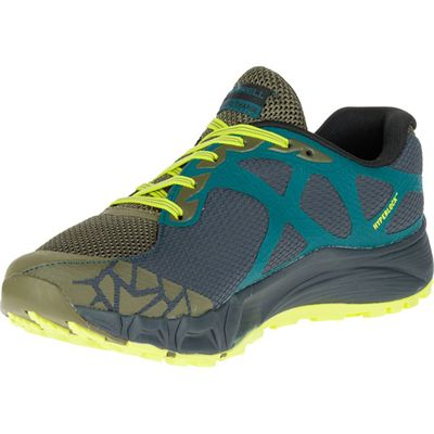 Merrell Agility Peak Flex Mens Running Shoes - Yellow - Left