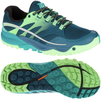 Merrell All Out Charge Ladies Running Shoes-Lime-Green