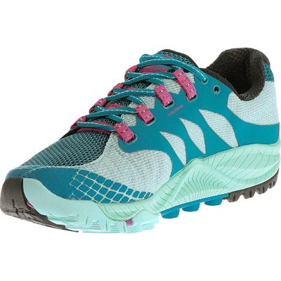 Merrell All Out Charge Ladies Running Shoes-Blue-Green-Alternative