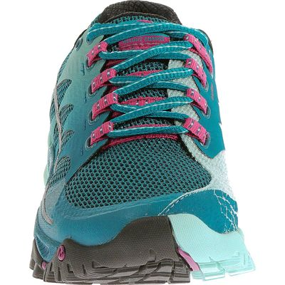 Merrell All Out Charge Ladies Running Shoes-Blue-Green-Front