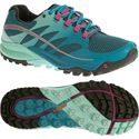 Merrell All Out Charge Ladies Running Shoes-Blue-Green-Main Image