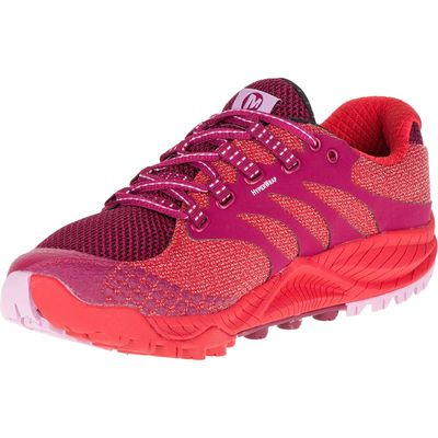 Merrell All Out Charge Ladies Running Shoes-Red-Alternative