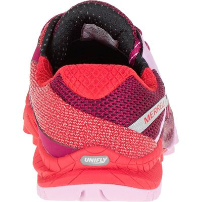Merrell All Out Charge Ladies Running Shoes-Red-Back