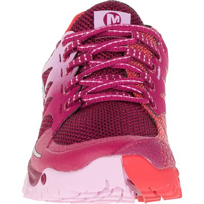 Merrell All Out Charge Ladies Running Shoes-Red-Front
