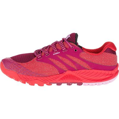Merrell All Out Charge Ladies Running Shoes-Red-Side