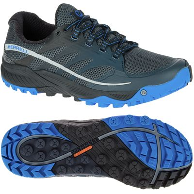 Merrell All Out Charge Mens Running Shoes-Black-Blue