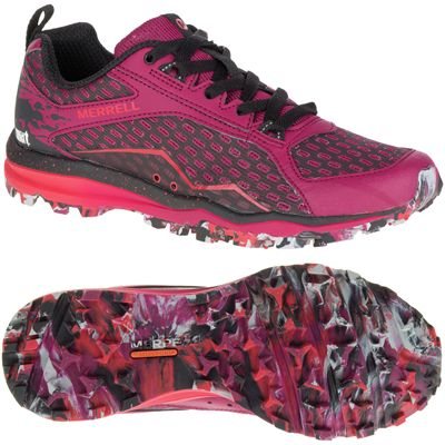 Merrell All Out Crush Ladies Running Shoes-Black-Pink