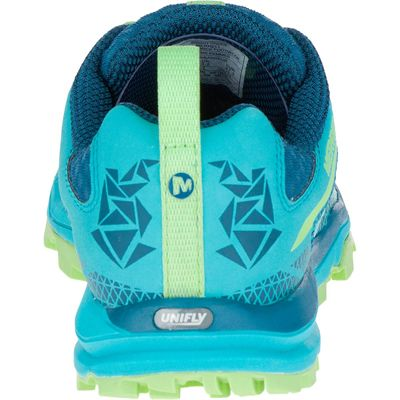 Merrell All Out Crush Light Ladies Running Shoes-Green-Back