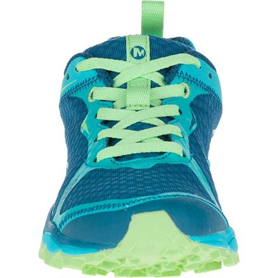 Merrell All Out Crush Light Ladies Running Shoes-Green-Front