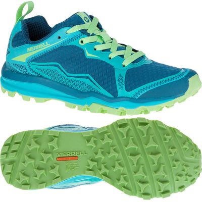 Merrell All Out Crush Light Ladies Running Shoes-Green-Main Image